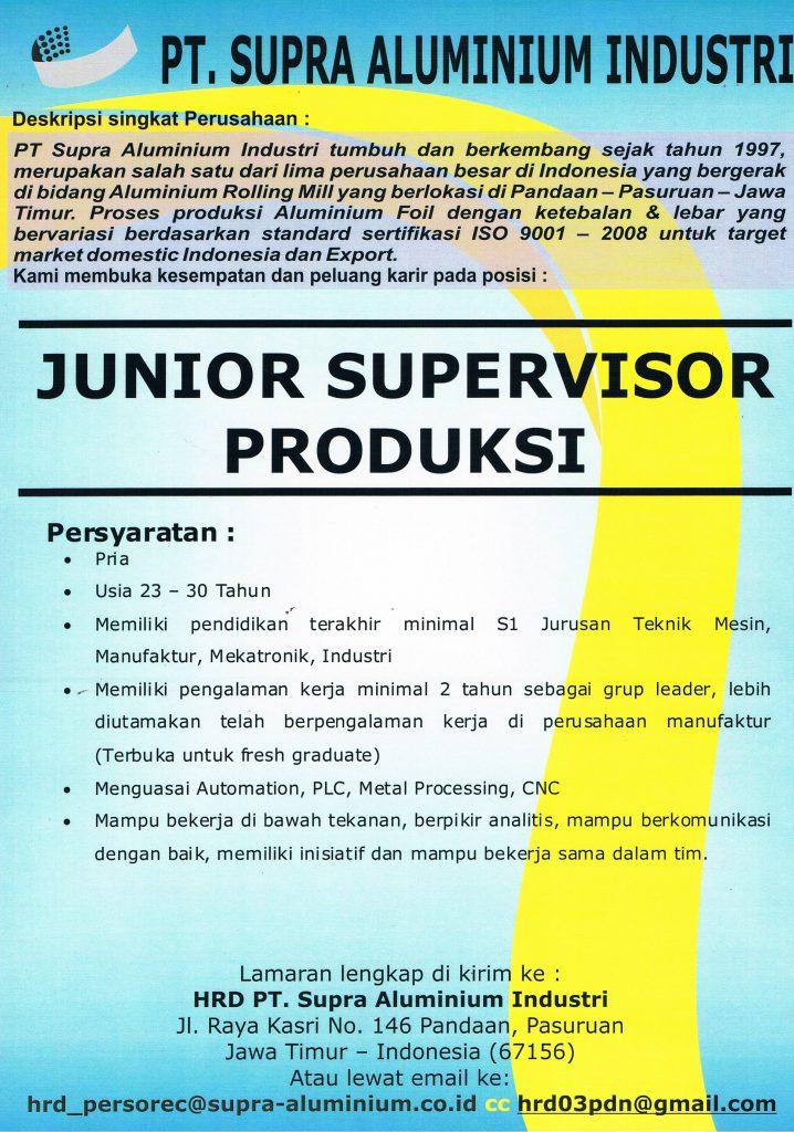 Lowongan Di Pt Supra Aluminium Industri Sttar Sekolah Tinggi Teknik Atlas Nusantara