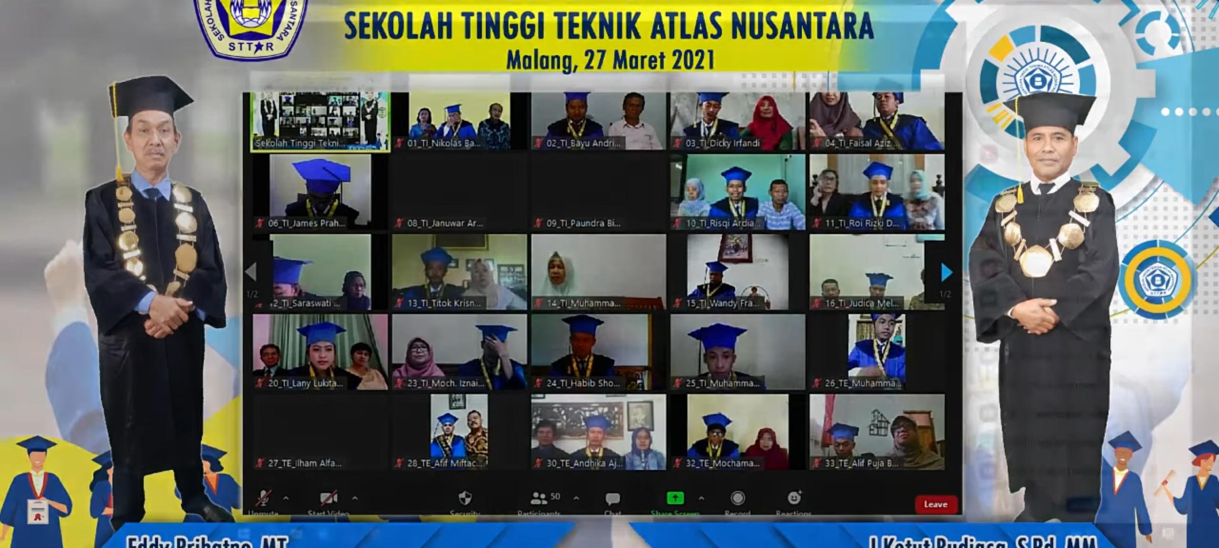 Wisuda Daring Sekolah Tinggi Teknik Atlas Nusantara Tahun 2021